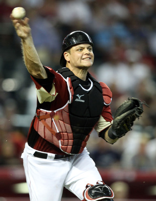 PHOENIX, AZ - JULY 10:  U.S. Futures All-Star Devin Mesoraco #36 of the Cincinnati Reds throws the ball during the 2011 XM All-Star Futures Game at Chase Field on July 10, 2011 in Phoenix, Arizona.  (Photo by Christian Petersen/Getty Images)