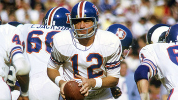 Denver Broncos QB #12 Charley Johnson