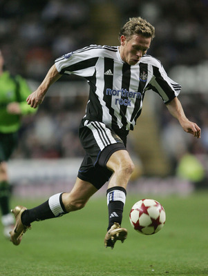 NEWCASTLE, ENGLAND - DECEMBER 16:  Craig Bellamy of Newcastle United in action during the UEFA Cup group D match between Newcastle United and Sporting Lisbon at St James Park on December 16, 2004 in Newcastle, England.  (Photo by Gary M.Prior/Getty Images