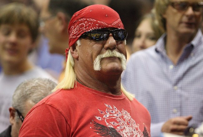ORLANDO, FL - JUNE 11:  Former pro wrestler Hulk Hogan attends Game Four of the 2009 NBA Finals between the Los Angeles Lakers and the Orlando Magic at Amway Arena on June 11, 2009 in Orlando, Florida.  The Lakers won 99-91 in overtime and lead the series