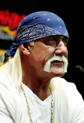 SYDNEY, AUSTRALIA - NOVEMBER 18:  Hulk Hogan addresses the audience during a press conference for 'Hulkamania - Let The Battle Begin' at Star City on November 18, 2009 in Sydney, Australia.  (Photo by Brendon Thorne/Getty Images.