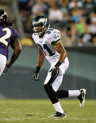 PHILADELPHIA, PA - AUGUST 11:  Curtis Marsh #31 of the Philadelphia Eagles in action against the Baltimore Ravens during their pre season game on August 11, 2011 at Lincoln Financial Field in Philadelphia, Pennsylvania.  (Photo by Jim McIsaac/Getty Images