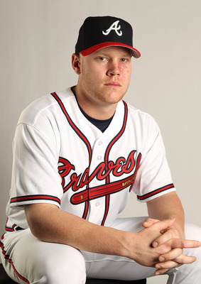 LAKE BUENA VISTA, FL - FEBRUARY 21: Brett Oberholtzer #69 of the Atlanta Braves during Photo Day at Champion Stadium at ESPN Wide World of Sports of Complex on February 21, 2011 in Lake Buena Vista, Florida. (Photo by Mike Ehrmann/Getty Images)