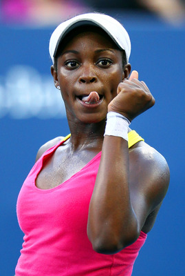 NEW YORK, NY - SEPTEMBER 01:  Sloane Stephens of the United States celebrates match point against Shahar Peer of Israel during Day Four of the 2011 US Open at the USTA Billie Jean King National Tennis Center on September 1, 2011 in the Flushing neighborho