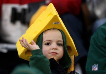 GREEN BAY, WI - OCTOBER 19:  A young Packers fan looks on during the game between the Green Bay Packers and the Indianapolis Colts on October 19, 2008 at Lambeau Field in Green Bay Wisconsin. The Packers won 34-14.  (Photo by Stephen Dunn/Getty Images)