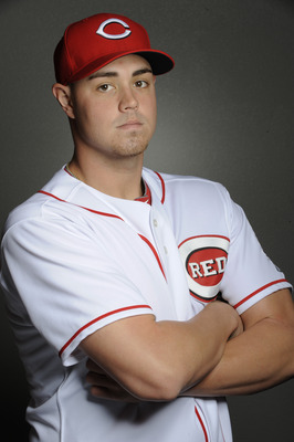 GOODYEAR, AZ - FEBRUARY 20: Jeremy Horst #79 of the Cincinnati Reds poses during the Cincinnati Reds photo day at the Cincinnati Reds Spring Training Complex on February 20, 2011 in Goodyear, Arizona. (Photo by Rob Tringali/Getty Images)