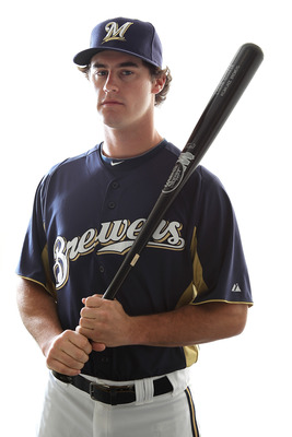 MARYVALE, AZ - FEBRUARY 24:  Logan Schafer #70 of the Milwaukee Brewers poses for a portrait during Spring Training Media Day on February 24, 2011 at Maryvale Stadium in Maryvale, Arizona..  (Photo by Jonathan Ferrey/Getty Images)