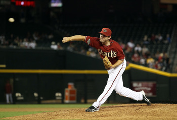 PHOENIX, AZ - JULY 20:  Relief pitcher Ryan Cook #48 of the Arizona Diamondbacks pitches against the Milwaukee Brewers during the Major League Baseball game at Chase Field on July 20, 2011 in Phoenix, Arizona.  The Brewers defeated the Diamondbacks 5-2 in