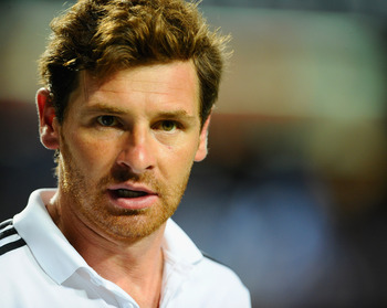 SO KON PO, HONG KONG - JULY 30: Andre Villas-Boas of Chelsealooks on during the Asia Trophy Final match against Aston Villa at the Hong Kong Stadium on July 30, 2011 in So Kon Po, Hong Kong.  (Photo by Victor Fraile/Getty Images)