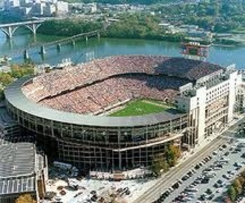 Neyland Stadium one of two stadiums on the water