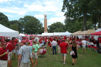 On the Quad for a Crimson Tide tailgate experience