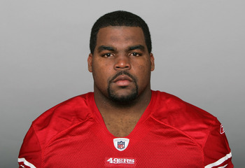 SAN FRANCISCO, CA - CIRCA 2010: In this handout image provided by the NFL, Chilo Rachal of the San Francisco 49ers poses for his NFL headshot circa 2010 in San Francisco, California. (Photo by NFL via Getty Images)