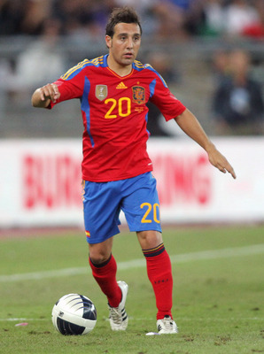 BARI, ITALY - AUGUST 10:  Santiago Carzola of Spain during the international friendly match between Italy and Spain at Stadio San Nicola on August 10, 2011 in Bari, Italy.  (Photo by Maurizio Lagana/Getty Images)