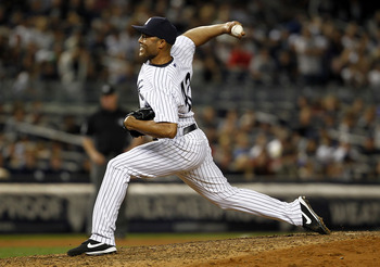 NEW YORK - SEPTEMBER 02:  Mariano Rivera #42 of the New York Yankees delivers during a game against the Toronto Blue Jays at Yankee Stadium on September 2, 2011 in the Bronx Borough of New York City.  (Photo by Jeff Zelevansky/Getty Images)