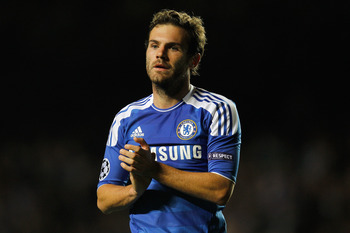 LONDON, ENGLAND - SEPTEMBER 13:  Juan Mata of Chelsea reacts during the UEFA Champions League Group E match between Chelsea and Bayer 04 Leverkusen at Stamford Bridge on September 13, 2011 in London, England.  (Photo by Paul Gilham/Getty Images)
