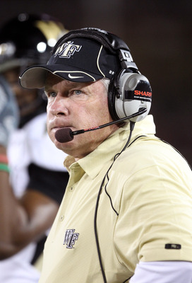 PALO ALTO, CA - SEPTEMBER 18:  Head coach Jim Grobe of the Wake Forest Demon Deacons watches his team play the Stanford Cardinal at Stanford Stadium on September 18, 2010 in Palo Alto, California.  (Photo by Ezra Shaw/Getty Images)