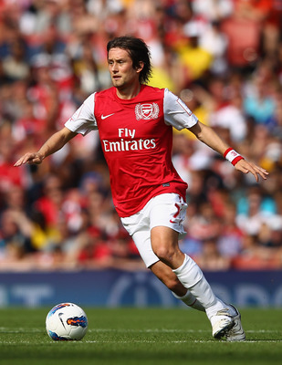 Tomas Rosicky will have to fight for playing time