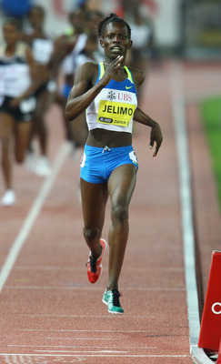 ZURICH, SWITZERLAND - AUGUST 29:  Pamela Jelimo of Kenya wins the Women's 800m during the IAAF Weltklasse Golden League meeting on August 29th, 2008 in Zurich, Switzerland.  (Photo by Jamie McDonald/Getty Images)