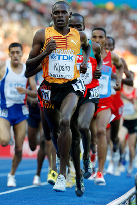 BERLIN - AUGUST 20:  Moses Ndiema Kipsiro of Uganda competes in the men's 5000 Metres Heats during day six of the 12th IAAF World Athletics Championships at the Olympic Stadium on August 20, 2009 in Berlin, Germany.  (Photo by Stu Forster/Getty Images)
