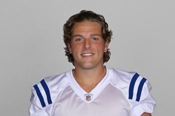 INDIANAPOLIS, IN - CIRCA 2010:  In this handout photo provided by the NFL, Pat McAfee of the Indianapolis Colts poses for his 2010 NFL headshot circa 2010 in Indianapolis, Indiana.  (Photo by NFL via Getty Images)