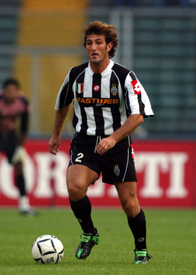 TURIN, PARMA - SEPTEMBER 28:  Ciro Ferrara of Juventus in action during the Serie A match between Juventus and parma, played at the Stadio Delle Alpi, Turin, Italy on September 28, 2002. (Photo by Grazia Neri/Getty Images)