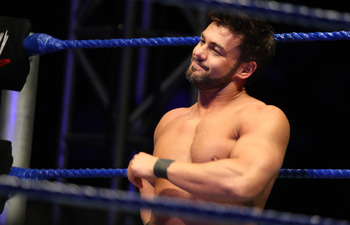 DURBAN, SOUTH AFRICA - JULY 08:  Cape Town Native Justin Gabriel during the WWE Smackdown Live Tour at Westridge Park Tennis Stadium on July 08, 2011 in Durban, South Africa.  (Photo by Steve Haag/Gallo Images/Getty Images)