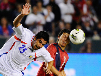 Jose Torres in action against Costa Rica