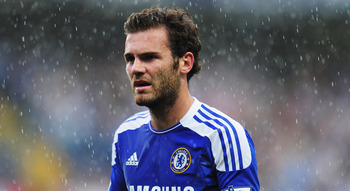 LONDON, ENGLAND - AUGUST 27:  Juan Mata of Chelsea looks on during the Barclays Premier League match between Chelsea and Norwich City at Stamford Bridge on August 27, 2011 in London, England.  (Photo by Shaun Botterill/Getty Images)