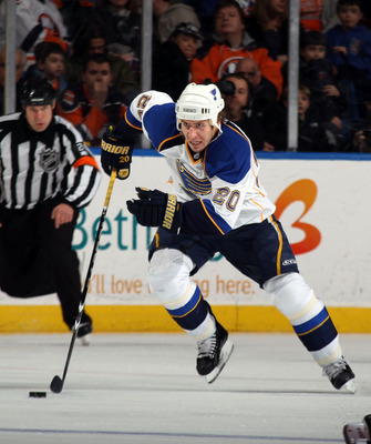 UNIONDALE, NY - MARCH 05:  Alexander Steen #20 of the St. Louis Blues skates against the New York Islanders at the Nassau Coliseum on March 5, 2011 in Uniondale, New York.  (Photo by Bruce Bennett/Getty Images)