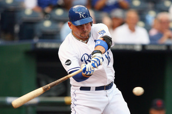 KANSAS CITY, MO - SEPTEMBER 03:  Designated hitter Billy Butler #16 of the Kansas City Royals bats against the Cleveland Indians at Kauffman Stadium on September 3, 2011 in Kansas City, Missouri. (Photo by Tim Umphrey/Getty Images)