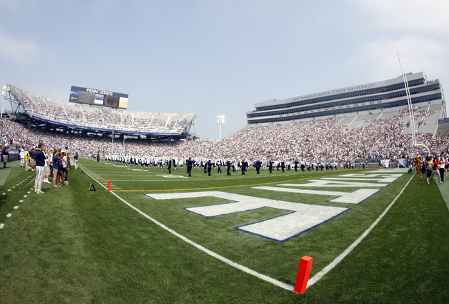 STATE COLLEGE, PA - SEPTEMBER 3:  A general view of Beaver Stadium before the start of the game between the Penn State Nittany Lions and the Indiana State Sycamores on September 3, 2011 at Beaver Stadium in State College, Pennsylvania.  (Photo by Justin K