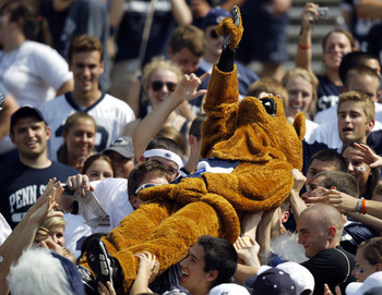 STATE COLLEGE, PA - SEPTEMBER 3:  The Penn State Nittany Lion crowd surfs during the game against the Indiana State Sycamores during the game on September 3, 2011 at Beaver Stadium in State College, Pennsylvania.  (Photo by Justin K. Aller/Getty Images)