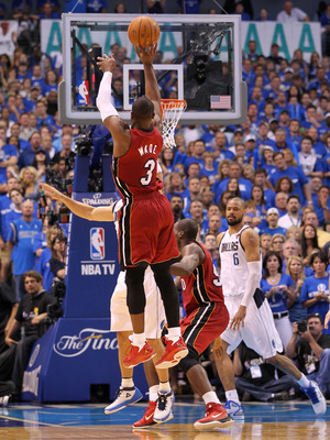 DALLAS, TX - JUNE 05:  Dwyane Wade #3 of the Miami Heat shoots the ball while taking on the Dallas Mavericks in Game Three of the 2011 NBA Finals at American Airlines Center on June 5, 2011 in Dallas, Texas.  NOTE TO USER: User expressly acknowledges and