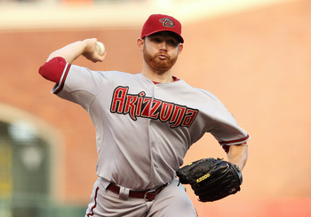 SAN FRANCISCO, CA - SEPTEMBER 03: Ian Kennedy #31 of the Arizona Diamondbacks pitches during a game against the San Francisco Giants at AT&T Park on September 3, 2011 in San Francisco, California.  (Photo by Tony Medina/Getty Images)