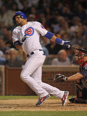 CHICAGO, IL - AUGUST 24:  Aramis Ramirez #16 of the Chicago Cubs hits the ball against the Atlanta Braves at Wrigley Field on August 24, 2011 in Chicago, Illinois. The Cubs defeated the Braves 3-2.  (Photo by Jonathan Daniel/Getty Images)