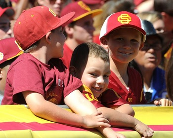 Future Trojans discussing penalties (Photo courtesy of USCTrojans.com by John SooHoo)