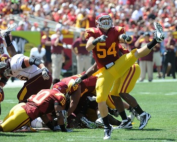 USC defense gets another sack (Photo courtesy of USCTrojans.com by John SooHoo)