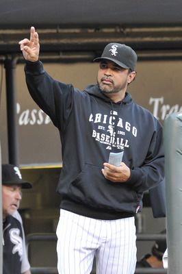 CHICAGO, IL - AUGUST 20: Ozzie Guillen #13 manager of the Chicago White Sox  during a game against the Texas Rangers  on August 20, 2011 at U.S. Cellular Field in Chicago, Illinois.  (Photo by David Banks/Getty Images)