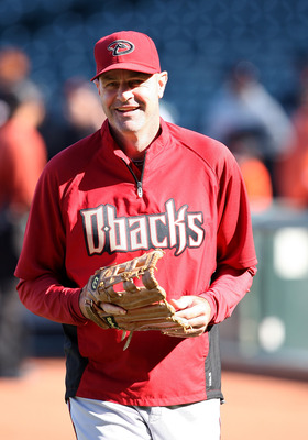 SAN FRANCISCO, CA - SEPTEMBER 03: Kirk Gibson #23 of the Arizona Diamondbacks looks on before the game between the Arizona Diamondbacks and the San Francisco Giants at AT&T Park on September 3, 2011 in San Francisco, California.  (Photo by Tony Medina/Get