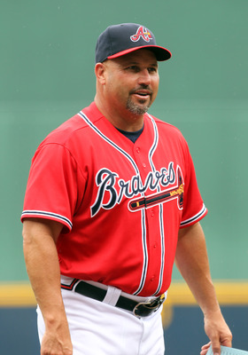 ATLANTA - SEPTEMBER 4: Fredi Gonzalez, manager of the Atlanta Braves smiles before a game against the Los Angeles Dodgers on September 4, 2011 at Turner Field in Atlanta, Georgia. (Photo by Joe Murphy/Getty Images)