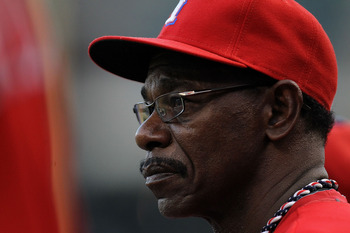 ARLINGTON, TX - SEPTEMBER 01: Manager Ron Washington of the Texas Rangers at Rangers Ballpark in Arlington on September 1, 2011 in Arlington, Texas.  (Photo by Ronald Martinez/Getty Images)