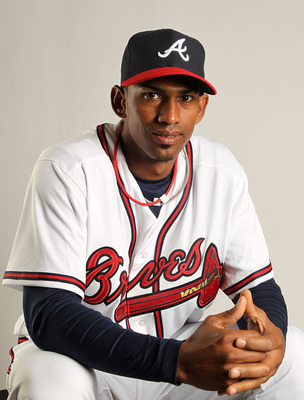 LAKE BUENA VISTA, FL - FEBRUARY 21: Juan Abreu #61 of the Atlanta Braves during Photo Day at  Champion Stadium at ESPN Wide World of Sports of Complex on February 21, 2011 in Lake Buena Vista, Florida.  (Photo by Mike Ehrmann/Getty Images)