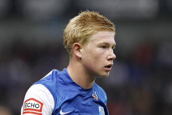 GENK, BELGIUM - JULY 30: Kevin De Bruyne of Genk looks on during the Jupiler Pro League Match between KRC Genk and Beerschot AC at the Cristal Arena on 30 July 2011 in Genk,Belgium (Photo by Kristof Van Accom/EuroFootball/Getty Images)