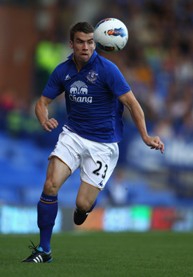 LIVERPOOL, ENGLAND - AUGUST 05:  Seamus Coleman of Everton in action during the pre season friendly match between Everton and Villarreal  at Goodison Park on August 5, 2011 in Liverpool, England.  (Photo by Clive Brunskill/Getty Images)