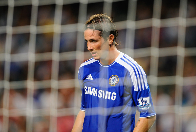 SO KON PO, HONG KONG - JULY 30: Fernando Torres of Chelsea looks on during the Asia Trophy Final match against Aston Villa at the Hong Kong Stadium on July 30, 2011 in So Kon Po, Hong Kong.  (Photo by Victor Fraile/Getty Images)