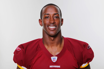 WASHINGTON, DC - CIRCA 2010:  In this photo provided by the NFL, Phillip Buchanon of the Washington Redskins poses for his 2010 NFL headshot circa 2010 in Washington, DC.  (Photo by NFL via Getty Images)