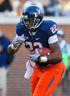 ATLANTA - OCTOBER 09:  Keith Payne #22 of the Virginia Cavaliers against the Georgia Tech Yellow Jackets at Bobby Dodd Stadium on October 9, 2010 in Atlanta, Georgia.  (Photo by Kevin C. Cox/Getty Images)