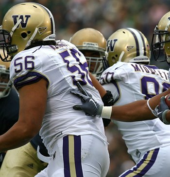 Washington's offensive line struggled