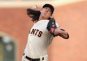 SAN FRANCISCO, CA - SEPTEMBER 03: Tim Lincecum #55 of the San Francisco Giants pitches during a game against the Arizona Diamondbacks at AT&T Park on September 3, 2011 in San Francisco, California.  (Photo by Tony Medina/Getty Images)