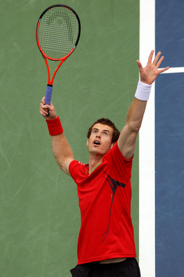 NEW YORK, NY - SEPTEMBER 07:   Andy Murray of Great Britain serves against Donald Young of the United States during Day Ten of the 2011 US Open at the USTA Billie Jean King National Tennis Center on September 7, 2011 in the Flushing neighborhood of the Qu